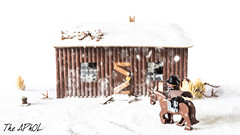 By day (The Aphol) Tags: afol lego diorama legography legophotography minifigs minifigures toy toyphotographers toyphotography cowboy winter snow rider oldwest farwest wildwest