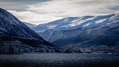 Tromso Hills (steveh011) Tags: ocean water seascape landscape dslr 1855mm 1300d canon cloud blue cold snow mountain sea norway tromso ngc