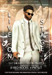 🎤  Levi Zuzu on Stage  🎤 (Roy Mildor - Taking clients again :)) Tags: levizuzu sl secondlife performer musician music venue stage roymildor