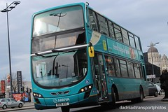 Arriva 4466. (anthonymurphy5) Tags: dadnladtransportphotos cannon1300d outside buses arriva bus gemini mx61axg 4466 vdl db300 wright 2 liverpool one station 100318