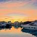 Dusk at the marina - Limassol, Cyprus