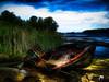 "The Boat (crimsontideguy-from ""Sweet Home Alabama"" USA) Tags: boats art digitalart photoshop boatwrecks water rocks vintage compilation canon lakes"