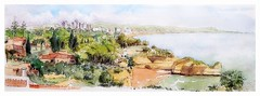 Alporchinhos - Algarve - Portugal (guymoll) Tags: usk urbansketchers alporchinhos armaçaodepera algarve portugal croquis sketcj aquarelle watercolour watercolor aguarela océan plage beach panoramique panoramic