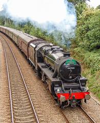 44932 Sandhurst 12 August 2010 (9) (BaggieWeave) Tags: steamengine steamlocomotive steam steamtrain 44932 black5 blackfive berkshire sandhurst littlesandhurst 460 cathedralsexpress