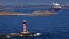 The ferry Viking Grace departing from Mariehamn, Åland Finland. In the foreground the lighthouse Marhällan. (Franz Airiman) Tags: ferry färja båt boat ship fartyg vikingline vikinggrace fyr lighthouse marhällan åland finland östersjön baltic skärgård archipelago