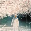 Wife (rifqi dahlgren) Tags: portrait wife muslim woman hijab sakura cherryblossom analog film mediumformat hasselblad500cm kodakportra400