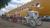 Izamal-Yucatan-Mexico (johnfranky_t) Tags: johnfranky t samsung s7 izamal mexico yucatan cavalli carrozze edificio monastero nuvole cielo giallo ruote raggi mozzi archi