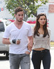 41153PCN_Kelly (antoniusbudyono11) Tags: kellybrook boyfriend dannycipriani rugby injured thumb cast whitevneck thshirt couple britishcouple rippedjeans tightjeans belly purple clutch longhair straight fredsegal hollywood california usa