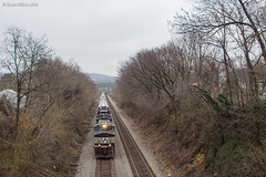 Brown For Now (nrvtrains) Tags: christiansburgdistrict 189 elliston greenhill overhead overcast signals norfolksouthern manifest virginia unitedstates us