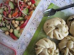 Bento 554 (Sandwood.) Tags: bento lunch lunchbox cooking food meal dish salad buns steamedbuns 花卷 flowerroll flowerbun tunasalad vegetables