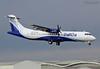 VT-IYE ATR72 Indigo landing with engine #2 down (@Eurospot) Tags: vtiye atr atr72 indigo toulouse blagnac engine