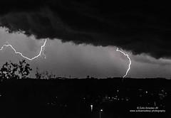 Lightning - My first Capturing (Aminoacido70) Tags: cielo clouds cloudscape landscape nature nuvole seasons sky sunset tramonto weather winter lightning storm night bolt flash