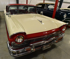 1957 Ford Fairlane 500 Sunliner convertible (D70) Tags: 1957 ford fairlane 500 sunliner convertible alyns vancouver classics private collection vccc garage tour nikon d750 20mm f28 ƒ100 200mm 1400 12800
