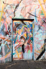 Door (UrbanphotoZ) Tags: portland door thedrawingstudio abstract paint aerosol drip urbanart streetart oregon