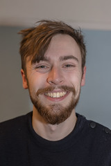 Matt (PatrickJamesB) Tags: smile beard male man friend stubble facial hair style portrait portraiture sigma 1835mm f18 dc hsm lens canon 80d smiling happy laughing pose indoors dof face headshot 2018