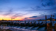 Ready for business (fentonphotography) Tags: venice italy sunrise gondola boats water bacinosanmarco horizon bluesky