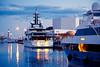 At nightfall  ♪♫ (Fnikos) Tags: port porto puerto mar mare sea water waterfront sky cielo boat ship night nightfall light tower building architecture outdoor