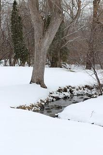A little river in winter