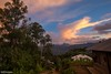 Over the Top - Sunset in a Jungle Mountain Village (0821) (Stefan Beckhusen) Tags: sunset sunrise dawn village mountain forest rainforest jungle tropic exotic buildings homes simplelife sky clouds paci manggarai flores indonesia lifestyle