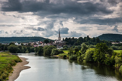 A river full of questions (The Frustrated Photog (Anthony) ADPphotography) Tags: architecture category citiestowns england external herefordshire landscape places rossonwye travel landscapephotography town church churchspire valley river water trees sky clouds cloudysky scenery scenic canon1585mm canon70d canon outdoor travelphotography countryside forest tree