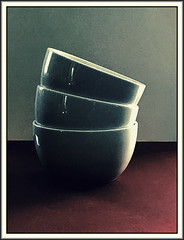 Three bowls (Bob R.L. Evans) Tags: bowls stilllife composition availablelight mutedcolors simple lightandshadow