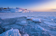 Frozen Sea (tinamar789) Tags: sea seashore seascape sunset snow winter ice icy frozen freezing horizon suomenlinna helsinki finland