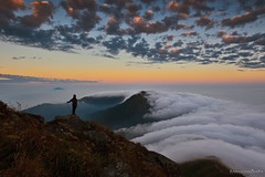 PHOENIX MOUNTAIN WITH CLOUD SEA AND SUNSET,HK (tommy0620) Tags: landscape phoenix mountain hiking sunset beautiful hong kong natural cloud light outdoor adventure weather 香港 鳳凰山 雲海