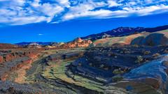 Death Valley National Park California. Zabriskie Point (Feridun F. Alkaya) Tags: nps ngc coyote usa nationalpark zabriskiepoint sanddunes jackal desert dvnp deathvalley california mesquiteflatdunes dunes saltflats salt sky landscape artistpalette artistdrive mount goldencanyon deathvalleynationalpark