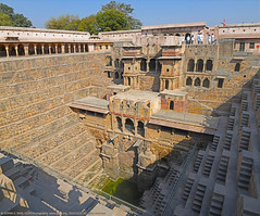 CHAND BAORI, LARGEST STEP WELL IN THE WORLD (GOPAN G. NAIR [ GOPS Creativ ]) Tags: gopsorg gops gopsphotography gopangnair gopan photography chand baori abhaneri rajasthan india largest deepest step well water desert scarcity