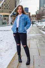 Éliane-5 (TheEvilDonut Photography) Tags: woman outdoors shooting portrait winter teen beautiful longhair montreal downtown