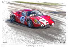Red Porsche GTS (christian_lawrence) Tags: sketch porsche goodwood motor racing vintage car