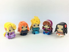 3D era (YOS Bricks) Tags: moana merida anna elsa rapunzel disney princess brickheadz