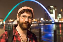 Manchesthair-1 (Kye3k1) Tags: newcastle quay hipster chesthair photographer street river millenium bridge baltic night