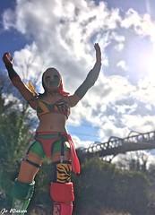 Empress (JoeyDee83) Tags: wwe wrestling mattel wrestlemania asuka charlotte flair vinyl toy action figure blue sky bridge