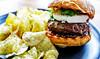 Homemade burger (Danny Nabors) Tags: burger chips arugula goat cheese sous vide