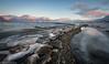 Frozen (stuartgibbons95) Tags: longyearbyen coast sea frozen mountians sunset landscape seascape wideangle sonya7 sony 1635