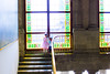!Hola, guapas! (dominiquita52) Tags: méxico château chapultepec escalier starecase girls filles fenêtres vitraux