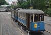 Stockholm Tram 443 with trailer 917 (TrainsandTravel) Tags: sweden suède schweden sverige standardgauge voienormale normalspur standardmätare trams tramways strassenbahn spårvagnar stockholm djurgårdsvägen a3 443 b20 917