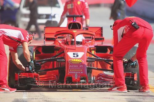 Sebastian Vettel in Formula One Winter Testing 2018