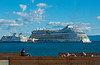Sunbathing on the Riva (fotofrysk) Tags: splitharbour view boats cruiseboat islandferry water sea sky blue adriaticsea theadriatic istriamontenegroroadtrip croatia split adriaticcoast dalmatiancoast sigma1750mmf28exdcoxhs nikond7100 201710079844
