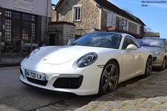 Porsche 911 Carrera 991 MKII (Monde-Auto Passion Photos) Tags: voiture vehicule auto automobile porsche 911 carrera 991 mkii blanc white sportive supercar new nouveauté france barbizon coupé