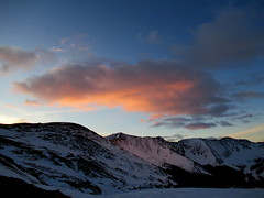 Grizzly Light (im me) Tags: colorado hiking mountains landscape sky clouds sunrise snow morning light grizzlypeak lenaweemountain rockymountains cupid frontrange lovelandpass arapahoebasinskiarea winter alpenglow