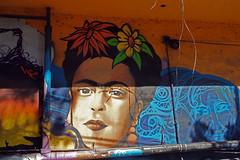 Frida Kahlo (BoringPostcards) Tags: tijuana mexico vacation travel avenidarevolución fridakahlo graffiti streetart art street