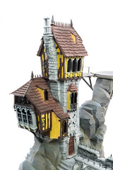 Crooked House: Plaster and framing (Will Vale) Tags: fantasy skullvanemanse warscryercitadel scenery warhammer crookedhouse malignportents gamesworkshop ageofsigmar 28mm scalemodel