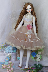 Soft Mirage (AyuAna) Tags: bjd ball jointed doll dollfie ayuana design handmade ooak clothing clothes dress set lolita kawaii romantic lace style fashion couture outfit sewing sewingfordolls sd sd13 sd10 feeple60 sadol love60 yena whiteskin