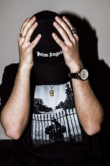 6555 (Nico Selis) Tags: portrait boy hype street wear streetwear photography supreme palm angels daytona watch casa blanca black white dark day