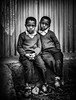 Brothers (liesbet_sanders) Tags: 2017 ethiopia menagesha kindergarten boys twins brothers two little poverty blackwhite black portrait serious travel children