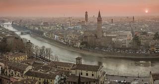 sunset at  Verona