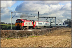 57316, Church Lawford (Jason 87030) Tags: themole 57316 class57 bodysnatcher vermin vergin portaloo dildo pendolino churchlawford rugby coventry wcml 2008 march lineside wire hedge field ts location light sun backlit clouds weather trains railway drag