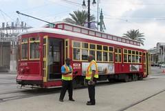 New Orleans - Canal Streetcar (Stabbur's Master) Tags: trolley streetcar canalstreetcar neworleans neworleansstreetcar neworleanscanalstreetcar tram transit transportation publictransit publictransportation louisiana